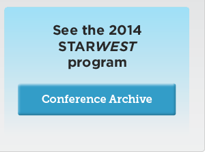 View the STAREAST 2013 conference program archive
